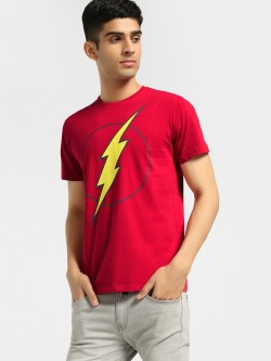 Free Authority Captain Marvel Logo Print T-Shirt