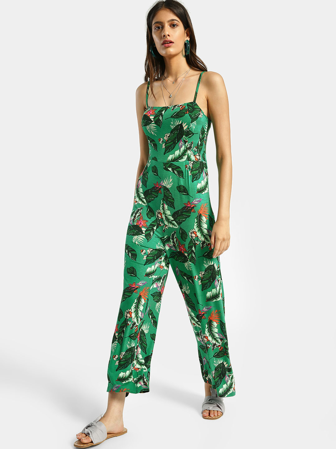 KOOVS Multi Tropical Print Strappy Jumpsuit 1