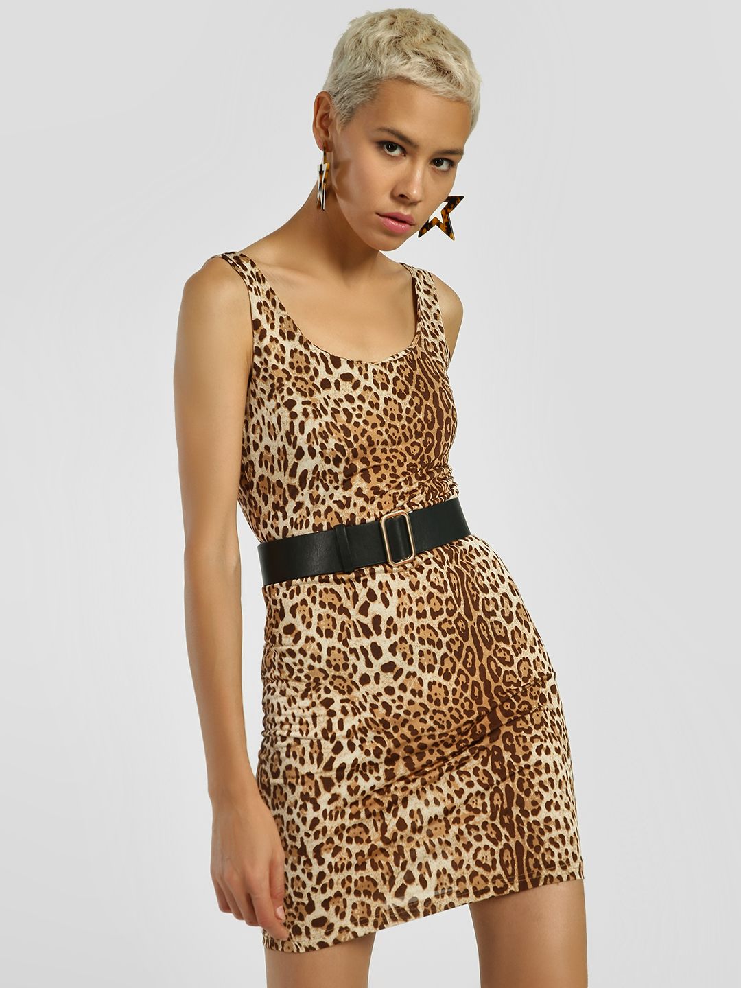 KOOVS Multi Leopard Print Bodycon Dress 1
