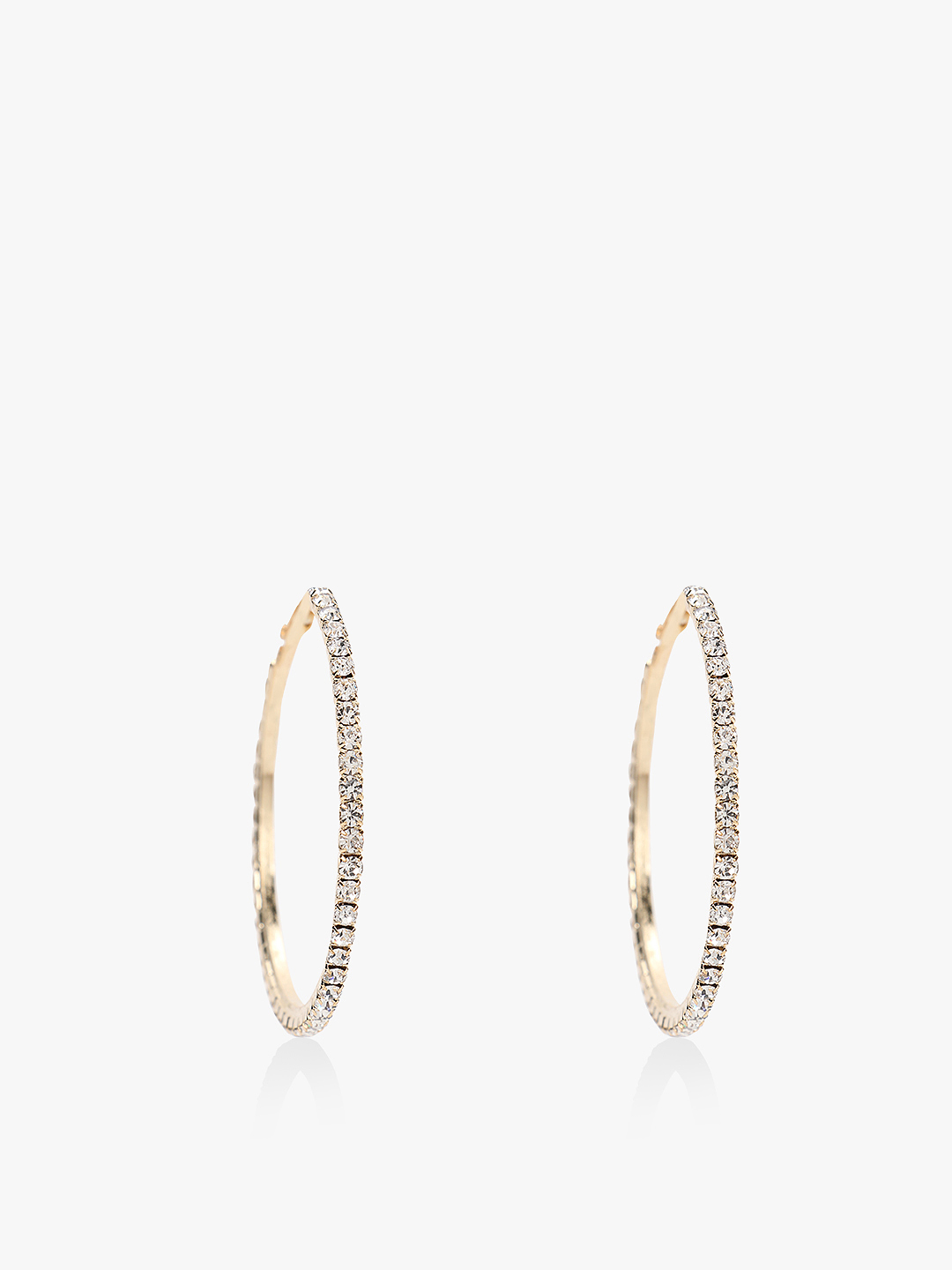 Mermaid Gold Diamante Embellished Hoops 1