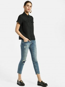Privy League Ripped Light Wash Skinny Jeans