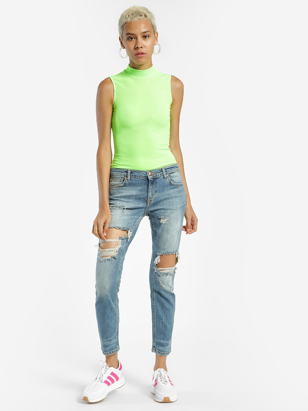 Privy League Blue Extreme Ripped Slim Jeans 1