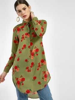 Miaminx Floral Print Tunic Top