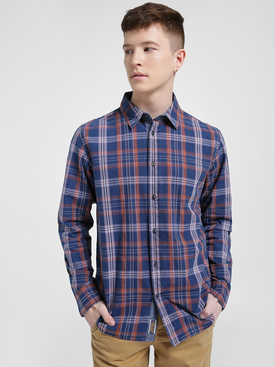 Being Human Blue Multi Check Casual Shirt 1