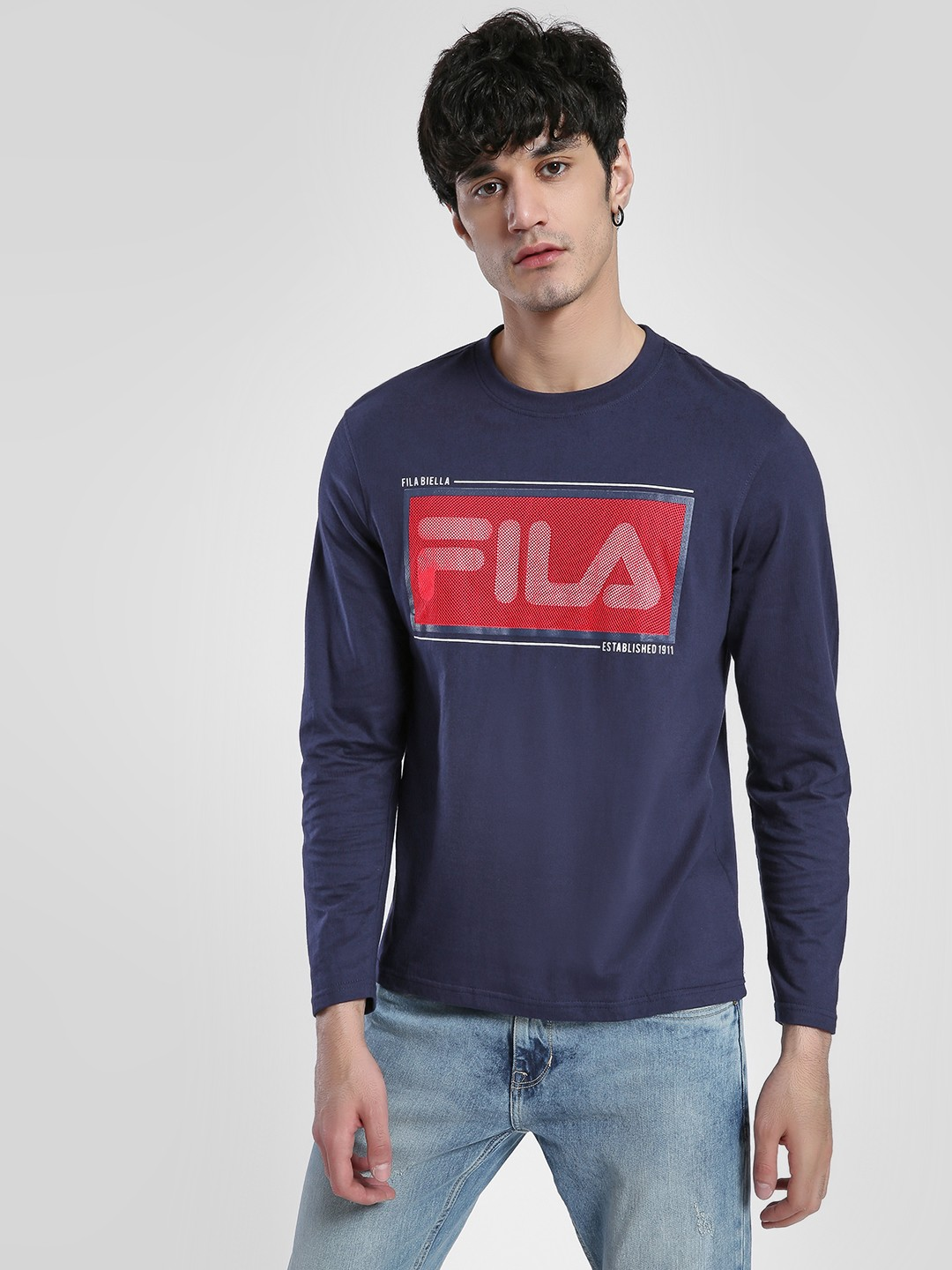 Fila Blue Biella Placement Print T-Shirt 1