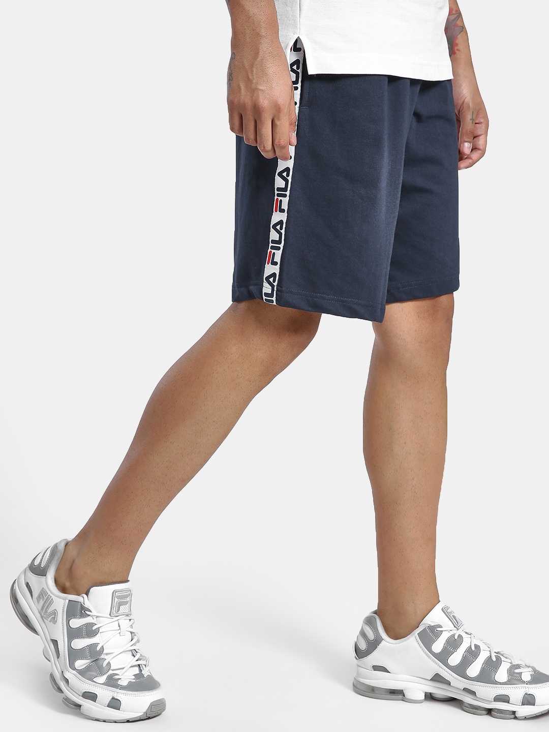 Fila Blue Logo Side Tape Shorts 1