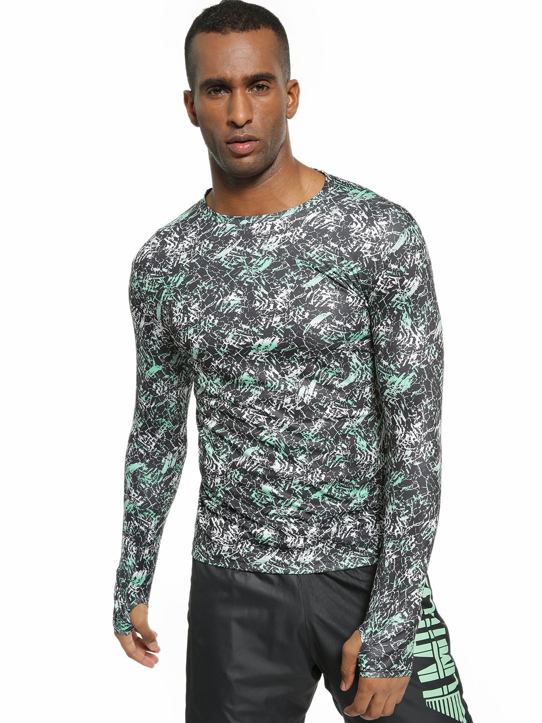 K ACTIVE Multi KOOVS Abstract Print Long Sleeve T-Shirt 1
