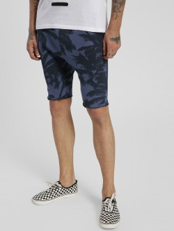 Alcott Palm Tree Print Slim Shorts
