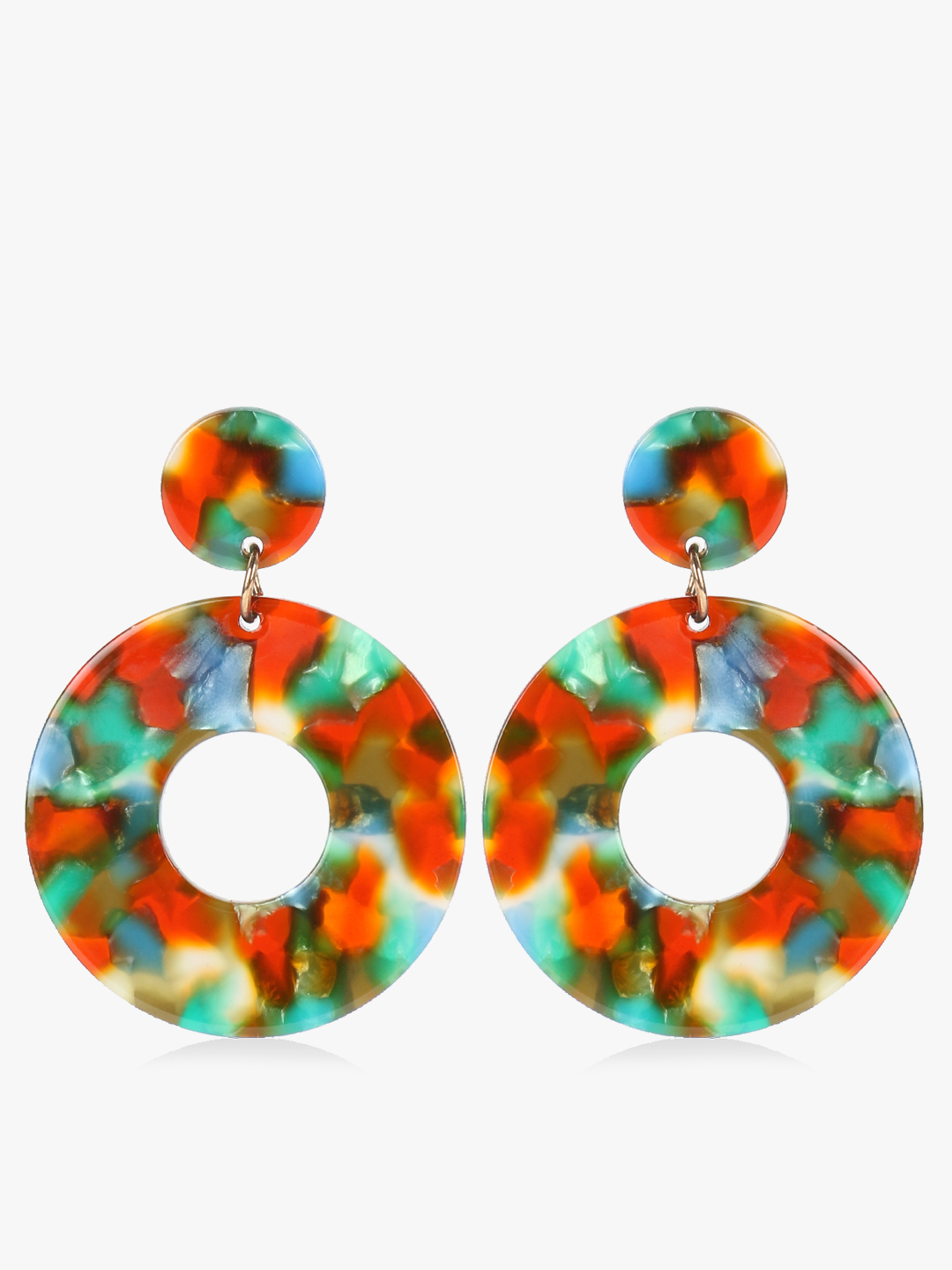 VOODOO VIXEN Multi Resin Concentric Drop Earrings 1