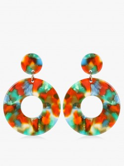 VOODOO VIXEN Resin Concentric Drop Earrings