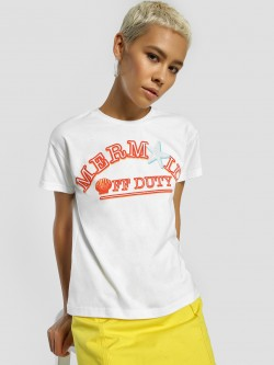 KOOVS Mermaid Placement Print T-Shirt