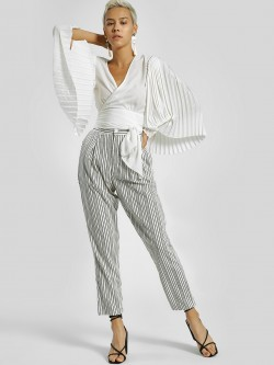 Daisy Street Stripe Pleated Trousers