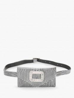 KOOVS Embellished Hardware Detail Textured Bum Bag