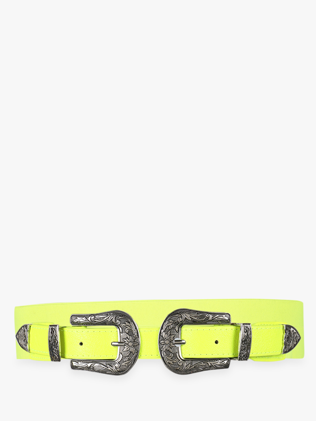 KOOVS Green Twin Buckle Textured Belt 1