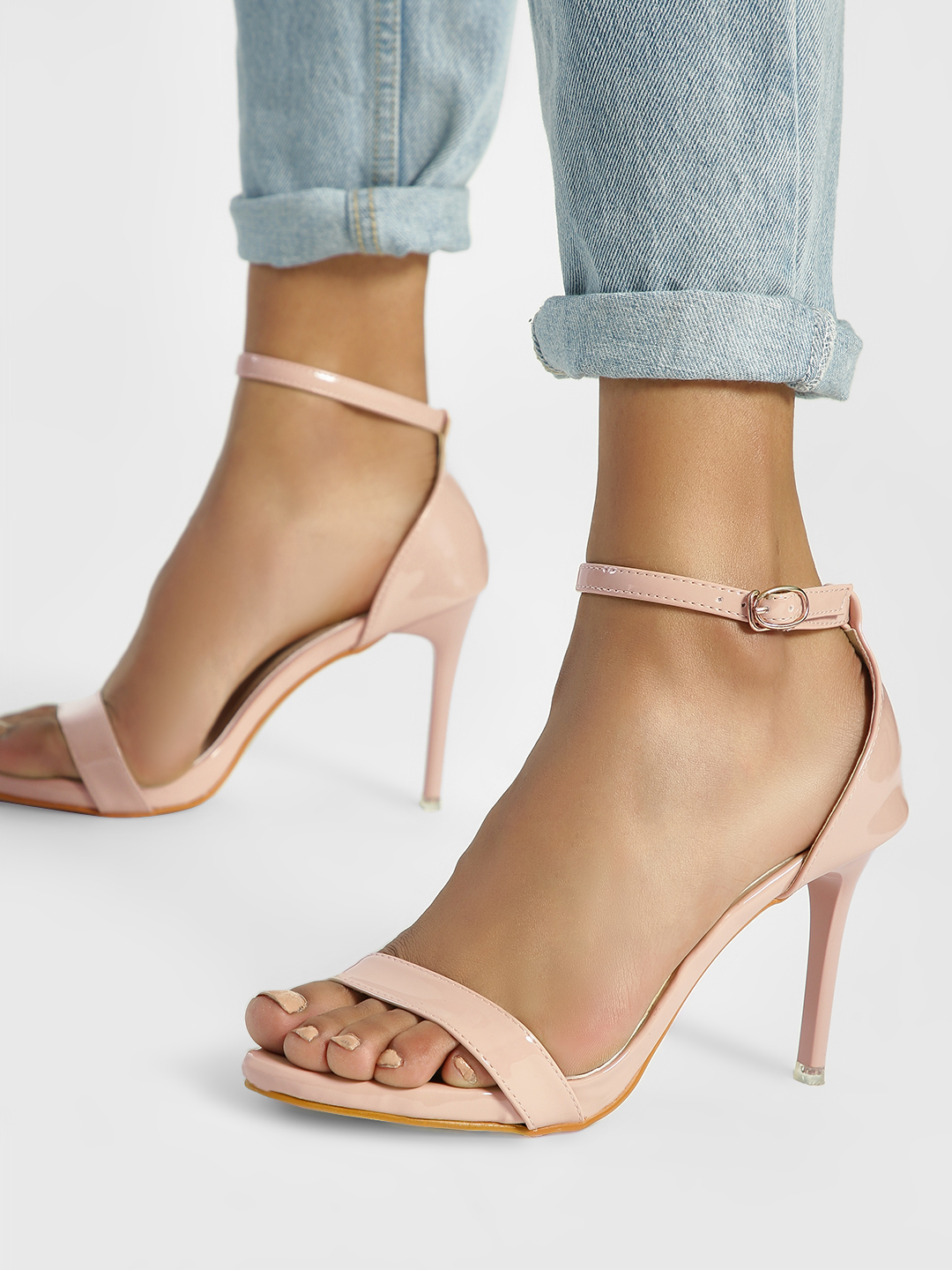 My Foot Couture Pink Basic Heeled Sandals 1