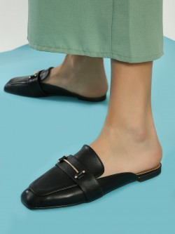 My Foot Couture Hardware Detail Flat Mules