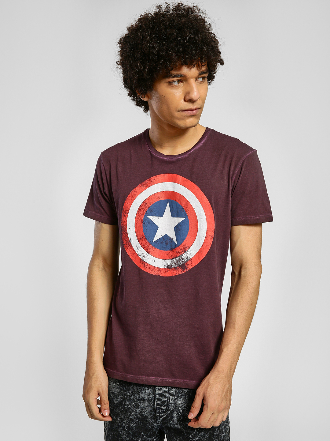 Free Authority Wine Large Captain America Logo T-Shirt 1