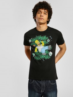 Free Authority The Simpsons Placement Print T-Shirt