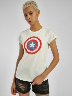 Free Authority Captain America Logo T-Shirt