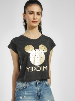 Free Authority Mickey Foil Print Crop T-Shirt