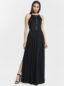 Ri-Dress Lace Insert Strappy Maxi Dress