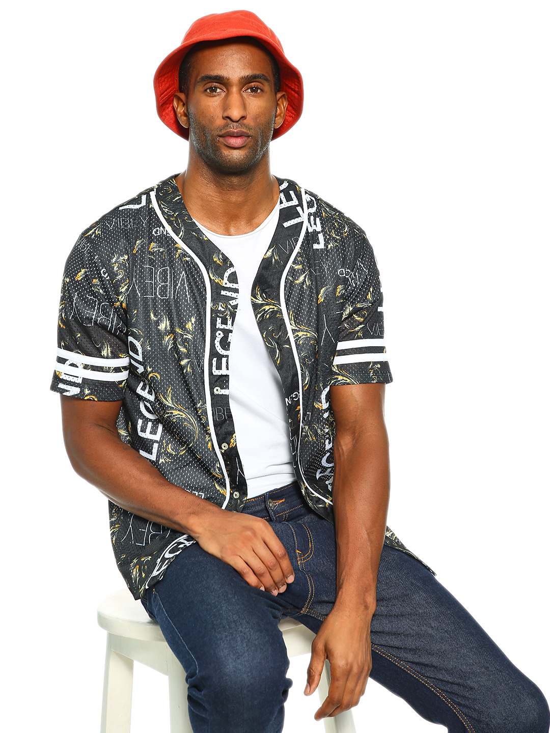 KOOVS Multi Vibey Legend Baroque Baseball Shirt 1
