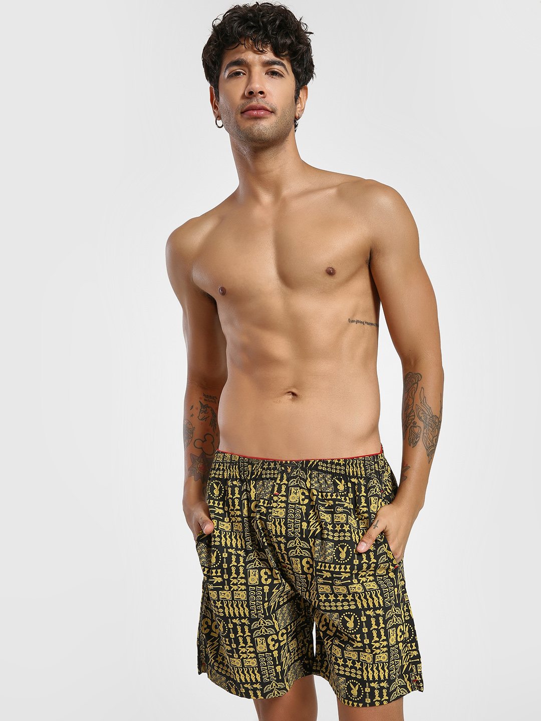 Playboy Yellow All Over Print Boxers 1