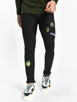 TRUE RUG Badge Detail Slim Fit Jeans