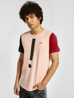IMPACKT Exclamation Mark Print Contrast Sleeve T-Shirt