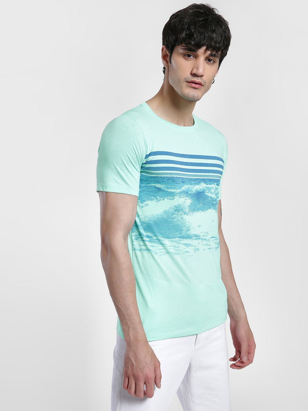 IMPACKT Multi Sea Print Short Sleeve T-Shirt 1