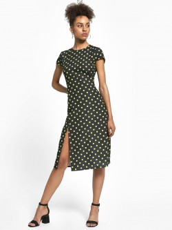 KOOVS Polka Dot Midi Dress