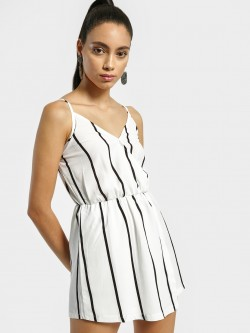 EmmaCloth Vertical Stripe Strappy Playsuit