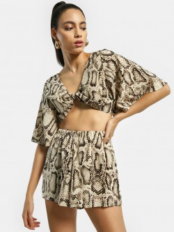 EmmaCloth Snake Print Co-ord Set