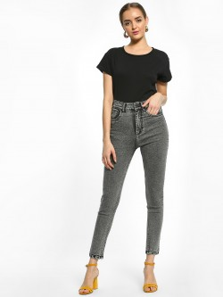 K Denim KOOVS Light Acid Wash Skinny Jeans