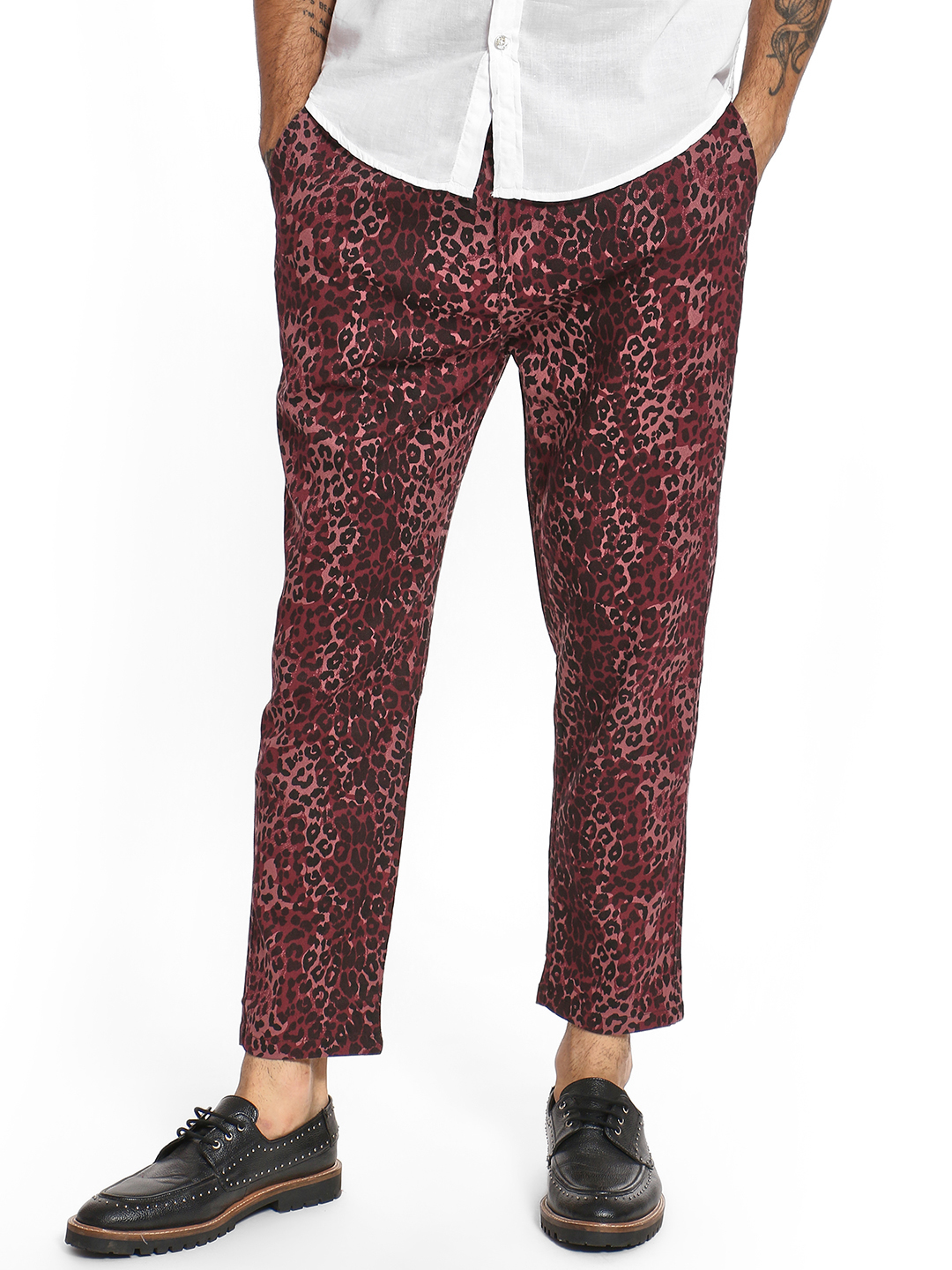 Spring Break Multi Leopard Print Drop Crotch Trousers 1