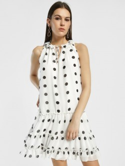 Sbuys Polka Dot Shift Dress