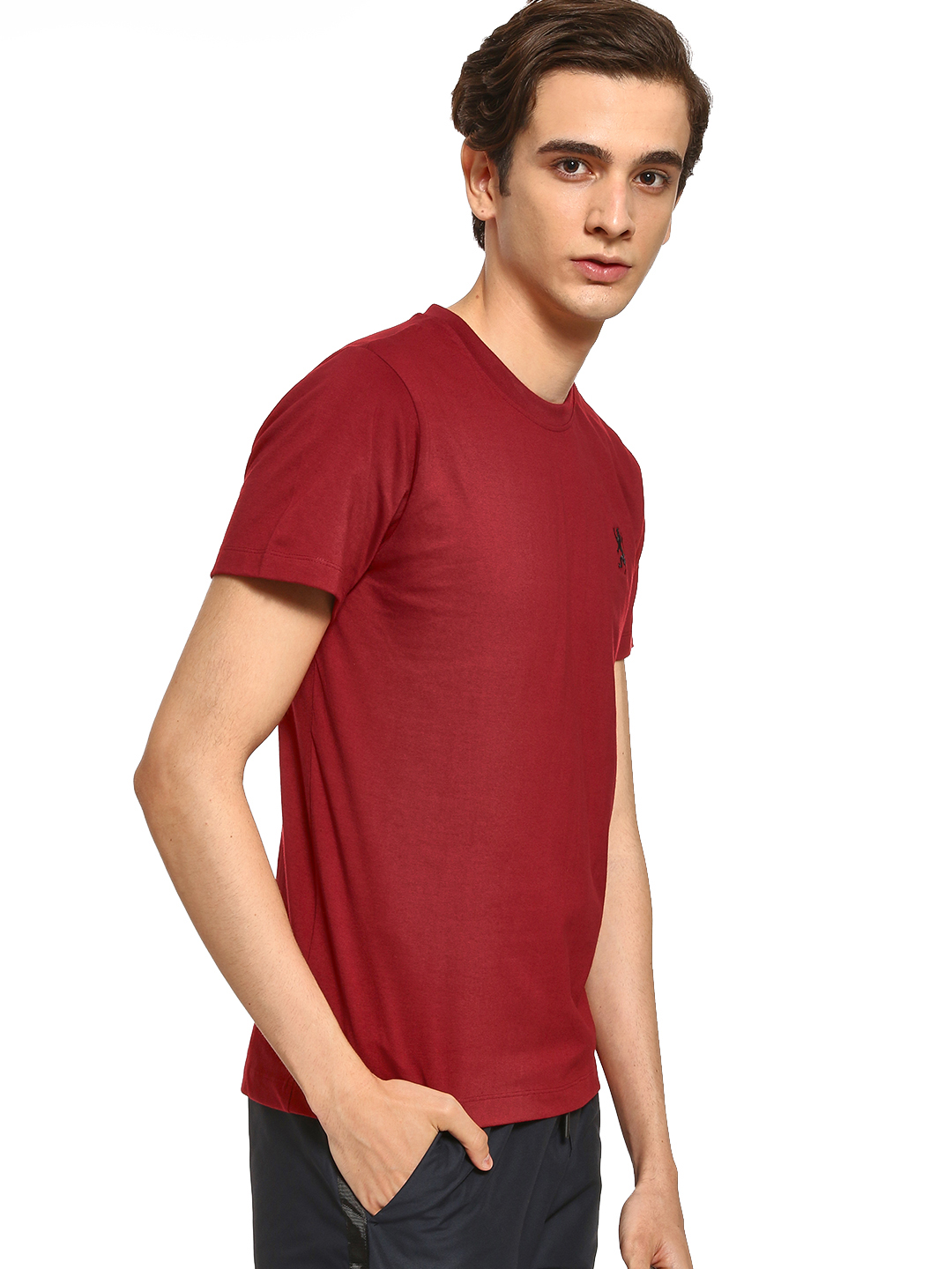 Giordano Red Basic Crew Neck T-Shirt 1