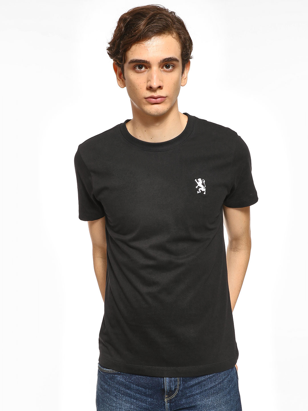Giordano Black Basic T-Shirt 1