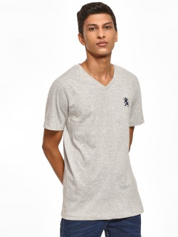 Giordano Embroidered Logo V-Neck T-Shirt