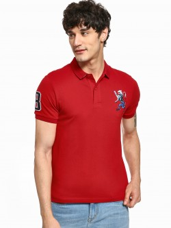 Giordano 3D Lion Patch Polo Shirt