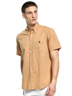 Giordano Linen Blend Short Sleeve Shirt