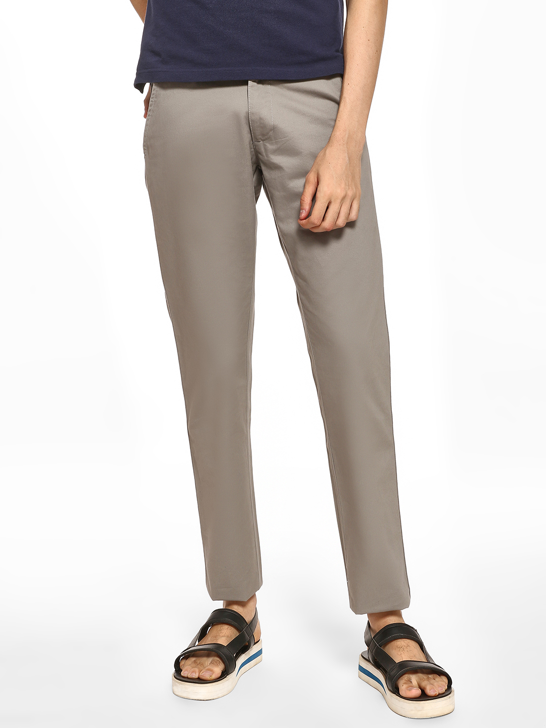 Giordano Grey Basic Slim Fit Trousers 1