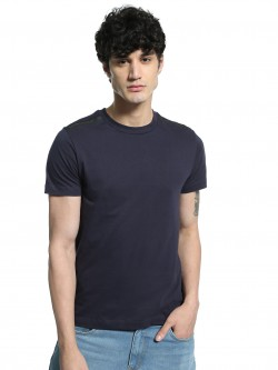 Kenneth Cole Shoulder Logo Embossed T-Shirt