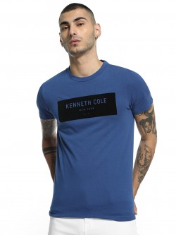 Kenneth Cole Velour Placement Logo T-Shirt