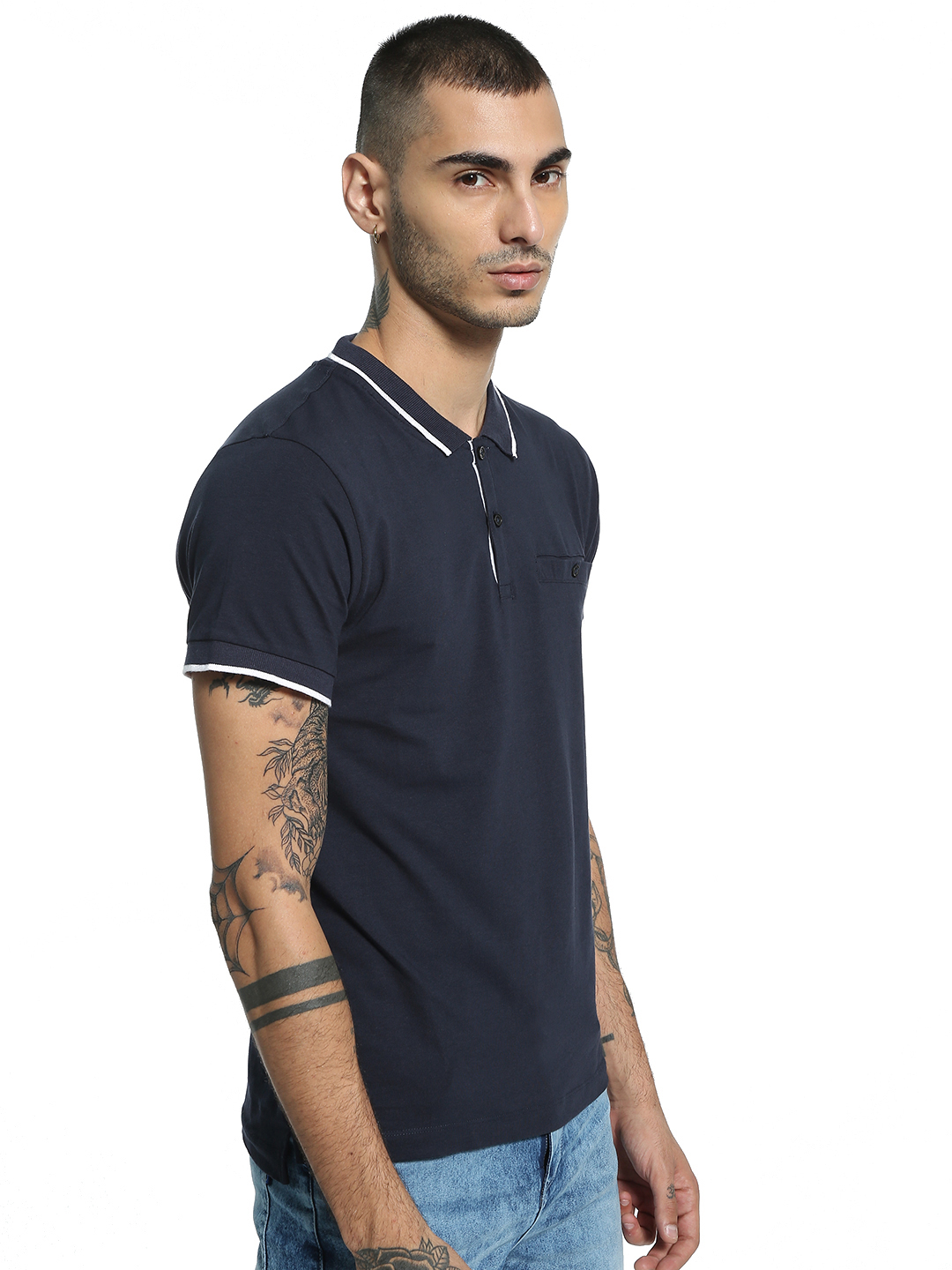Kenneth Cole Blue Basic Polo Shirt 1