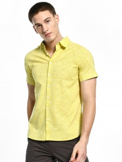 Kenneth Cole Banana Leaf Print Shirt