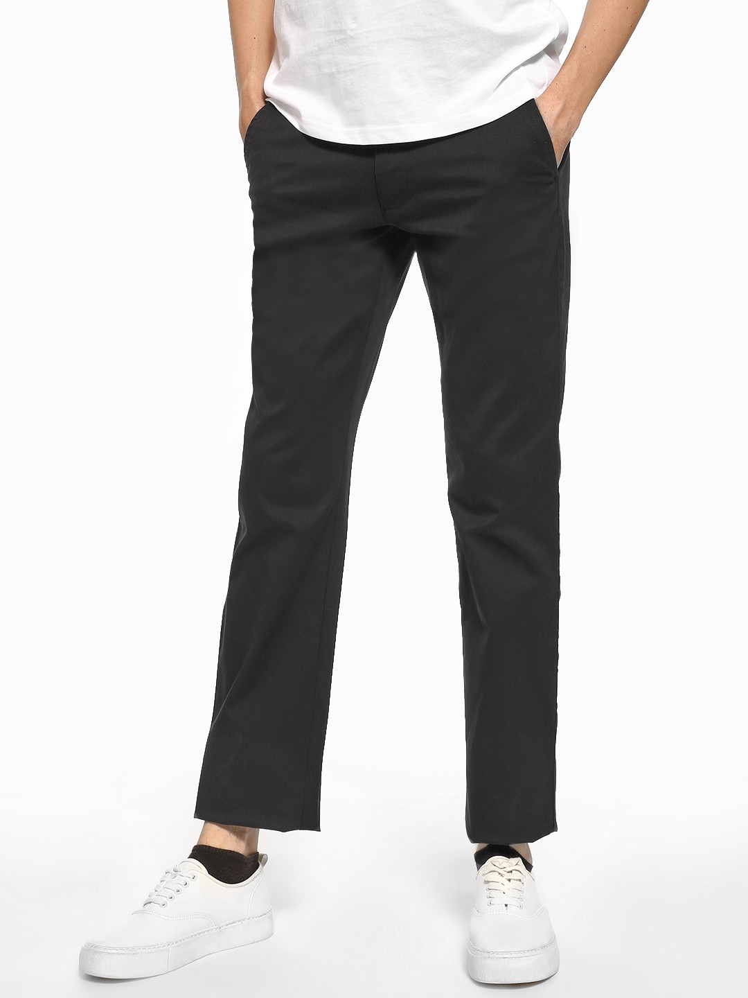 Giordano Blue Basic Slim Fit Trousers 1