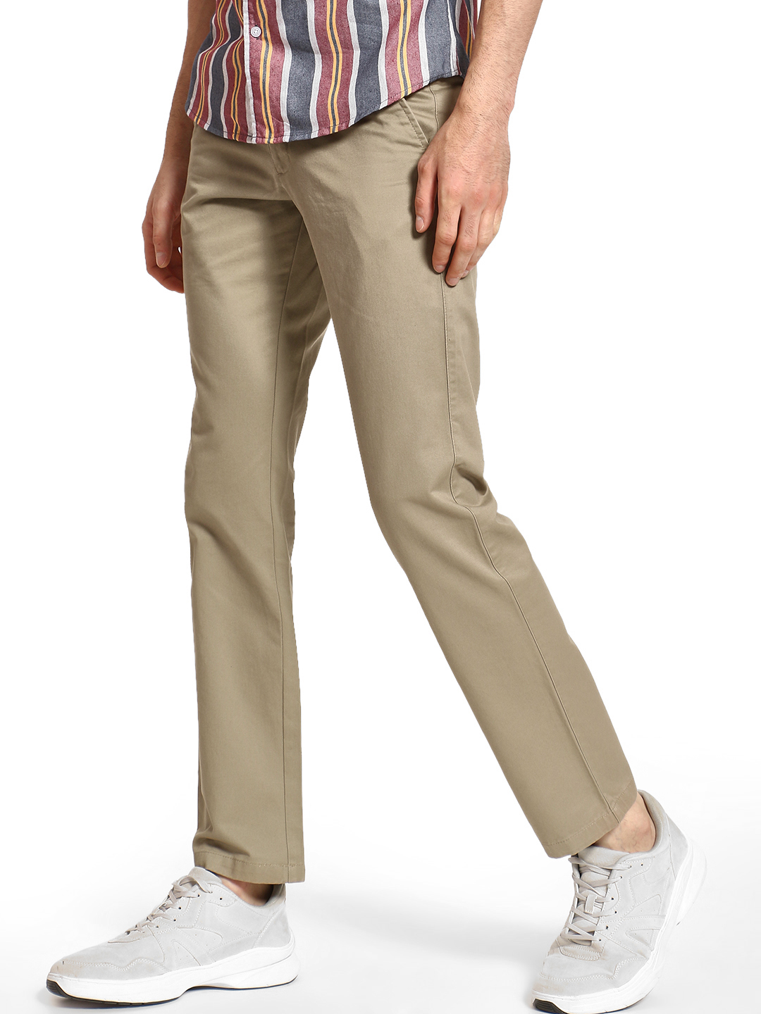 Giordano Brown Basic Slim Fit Trousers 1