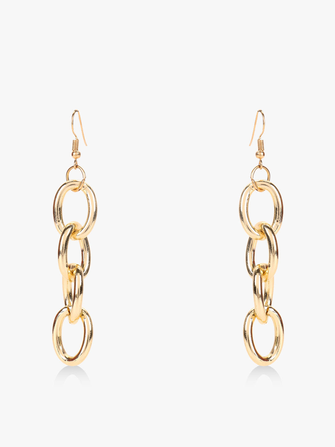 Style Fiesta Gold Chain Detail Earrings 1
