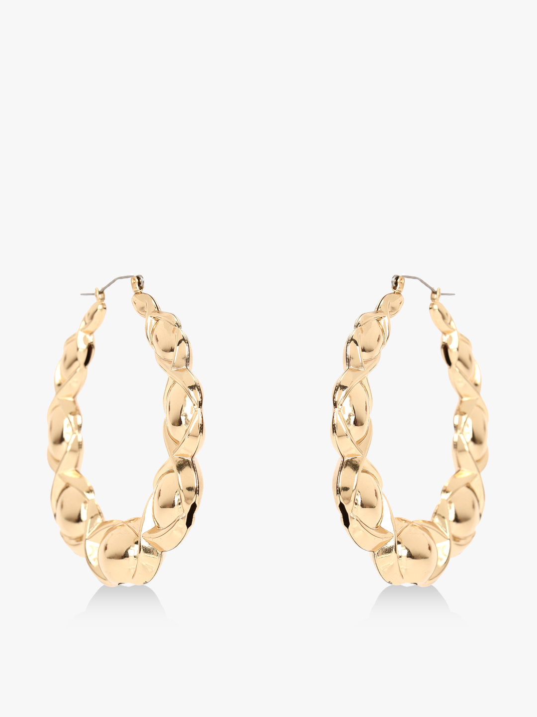Style Fiesta Gold Twisted Hoops 1